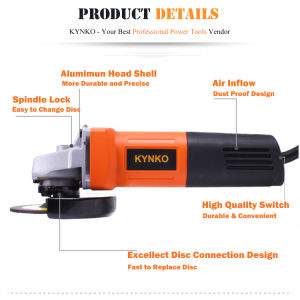 100mm/750W Kynko Professional Electric Power Tools Angle Grinder (KD62) pictures & photos