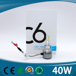 Factory Price H1 H4 H7 40W LED Headlight Modified Car Headlight pictures & photos