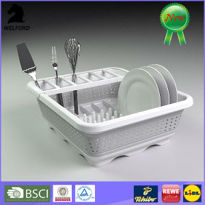 BSCI Audit Plastic Collapsible Dish Rack pictures & photos