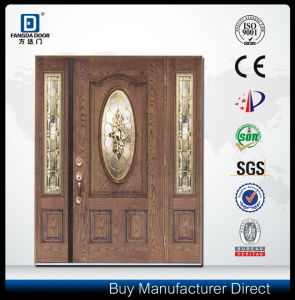 Decorative Glass Inserted Eco-Friendly House Front Fiberglass Door pictures & photos