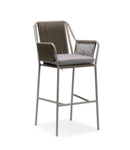 Bistro Bar Set Stool with Footrest Cross Bar P-Fp0316 pictures & photos