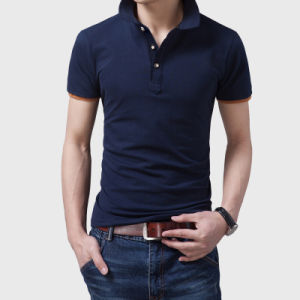 Black Slim Fit Men Polo Shirts pictures & photos