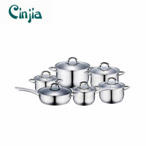 Amazon Hot Selling 12PCS Stainless Steel Induction Cookware Set pictures & photos