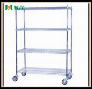 Chrome Wire Shelving with Wheel Mjy-Wsc14 pictures & photos