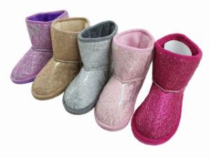 2017 Ladies Girls PU Nice Warm Snow Boots for Winter pictures & photos
