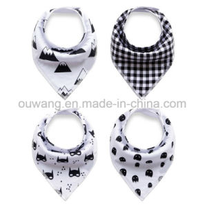 Custom Logo Printed Water-Absorbing Cute Baby Bandana pictures & photos
