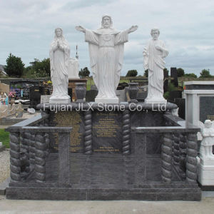 Ireland Style Bahama Blue Marble Jesus Statue Granite Headstones pictures & photos