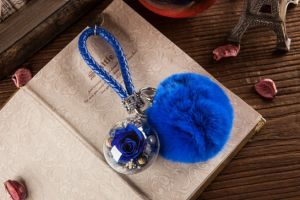 Ivenran Preserved Fresh Flower Ball Keychain for Valentine′s Day Present and Decoration pictures & photos