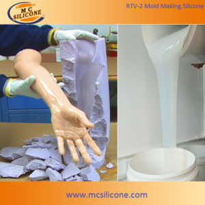 Liquid White RTV-2 Silicone Rubber for Gypsum Cornice Mold Making pictures & photos