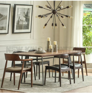 Square Wooden Restaurant Furniture Metal Dining Table (NK-DTB082) pictures & photos