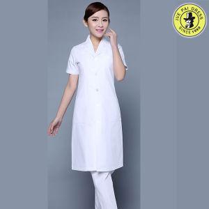 Factory OEM Fashionable Lab Coat Unisex White Cotton Medical Hospital Uniform Design pictures & photos