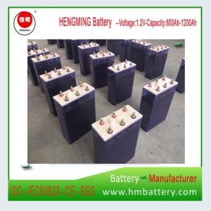 Nickel Cadmium Alkaline Storage Batteries 1.2V 1200ah for UPS and Solar Power pictures & photos