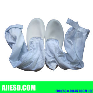 Durable Dustfree PU Sole White ESD Boots pictures & photos