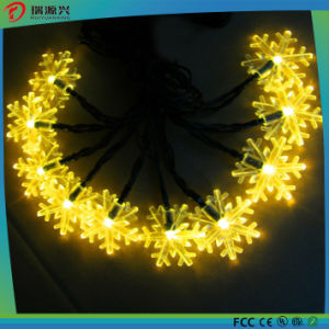LED Solar snowflake String Lights Christmas pictures & photos