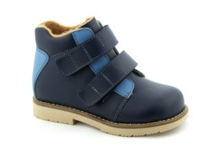 Leather Comfy Kids Shoes Children Support Shoes pictures & photos
