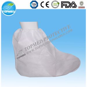Disposable Waterproof Shoe Cover with CPE Coated / Rain Boot Cover pictures & photos