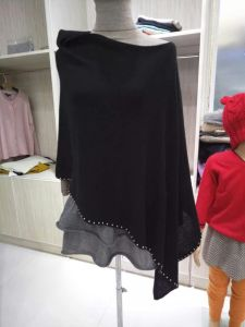 Trj010, 100%Cashmere, Black, Good Quality, Poncho, Lady&Women pictures & photos