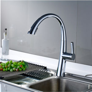 Kitchen Mixer Faucet with Single Handle Single Hole pictures & photos