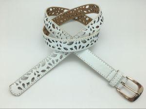 Women′s Fashion PU Belt with Cut out Design (YF-067)