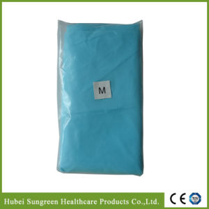Waterproof CPE Isolation Gown with Thumb Loop pictures & photos