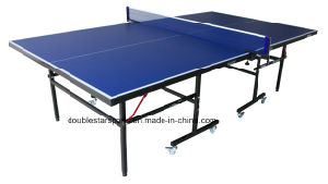 Single Folding Table Tennis Table with Removable Casters pictures & photos
