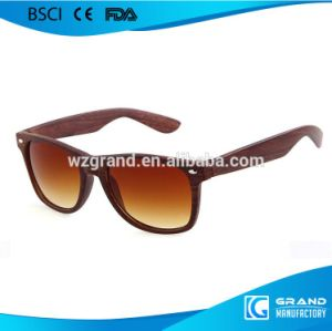 Fake Wooden Sunglasses Plastic Frame Wooden Effect Sunglasses pictures & photos