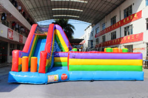 Inflatable Obstacle Game Playground with Slide (CHOB322-1) pictures & photos