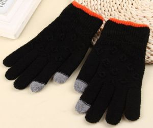 2017 Jacquard Screen Touch Gloves pictures & photos