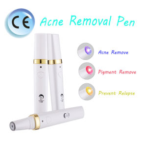LED Light and Heating Therapy Red/Blue/Green Color Electronic Laser Beauty Acne Removal Pen pictures & photos