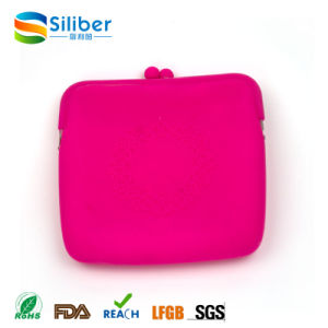 portable Square Silicone Women Hand Clutch Coin Bags for Cosmetic Gifts pictures & photos