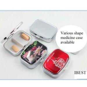 Promotional Gift Portable Mini 2 Slots Pill Box Medical Drug Medicine Storage Case Organizer pictures & photos