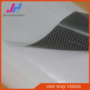 Outdoor Advertising Glossy 160micron PVC One Way Vision Vinyl pictures & photos