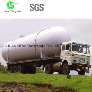 18m3 Volume Cryogenic Tanker Container Semi-Trailer