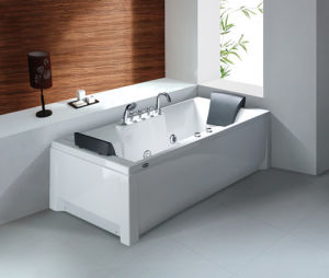 Deluxe Indoor Sanitary Ware Freestanding Whirlpool/Massage/SPA Acrylic Bathtub pictures & photos