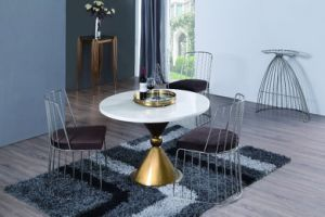 Stainless Steel Morden Coffee Table with White Marble Top pictures & photos