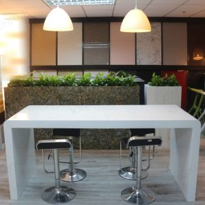 White C- Shape Solid Surface Bar Table pictures & photos