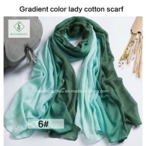 2017 High Quality Fashion Lady Scarf with Multicolor Color Factory pictures & photos