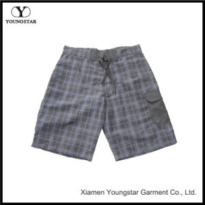 Plaid Pattern Men′s Swimwear Board Trunks Shorts Without Lining pictures & photos