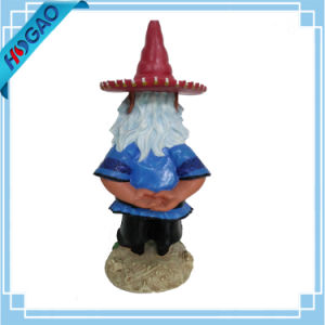 "Large Garden Gnome Holding Solar Lantern Light Figurine Home Decor Statue 17""H pictures & photos"
