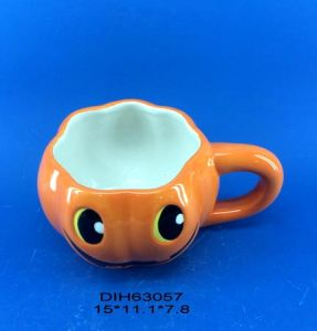 Ceramic Pumpkin Coffee/Tea Mug for Halloween Decoration pictures & photos