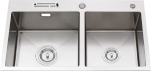 S2112 Topmount Hand Made Stainless Steel Kitchen Sink pictures & photos