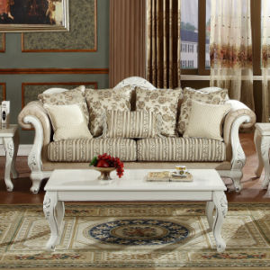 Classical Wooden Couch Antique Home Sofa for Living Room Furniture Set pictures & photos