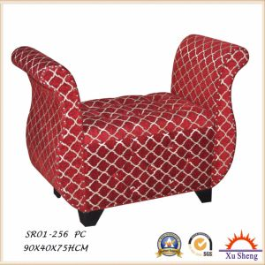 Modern Upholstered Red Storage Bench Loveseat Ottoman for Living Room pictures & photos