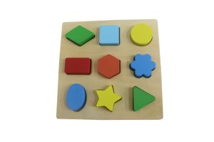 Hot Christmas Gift Wooden Shape Block Puzzle for Kids and Children pictures & photos