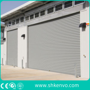 Insulated Rolling Shutter Garage Door with Remote Control pictures & photos