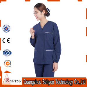100% Cotton Medical Scrubs Design with V-Neck pictures & photos