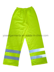 100% PU Hi-Viz Reflective Protective Apparel Waterproof Safety Pants Trousers pictures & photos