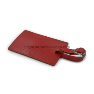 Fashion & High Quality PU Red Leather Luggage Tag pictures & photos