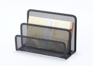 Cheap Office Supplies/ Metal Mesh Stationery Letter Shelf/ Office Desk Accessories pictures & photos