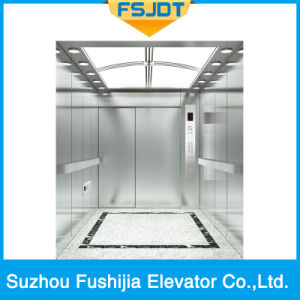 Hospital Elevator with 2-Panel Side Opening or Center-Opening pictures & photos